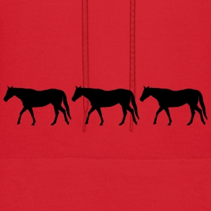 Horses in a row - Men's Hoodie