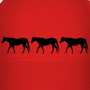 Horses in a row - Baseball Cap