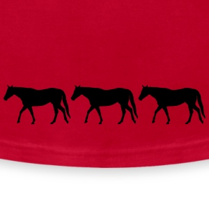 Horses in a row - Men's T-Shirt by American Apparel