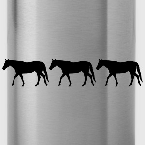 Horses in a row - Water Bottle