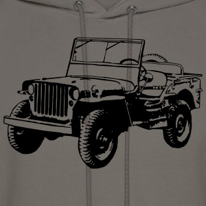 Willys Jeep (1 color) T-Shirts - Men's Hoodie