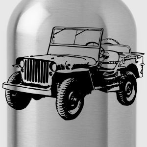 Willys Jeep (1 color) T-Shirts - Water Bottle