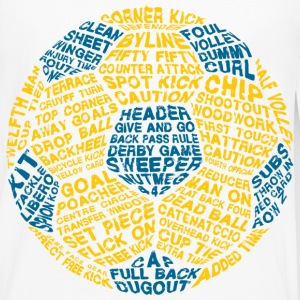 Soccer Ball Typography Baby & Toddler Shirts - Men's Premium Long Sleeve T-Shirt
