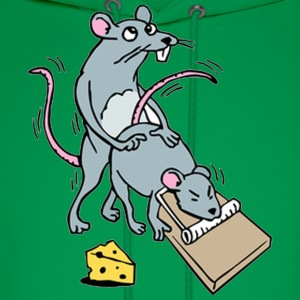 Mouse Screwing a Mouse in a Mousetrap  T-Shirts - Men's Hoodie