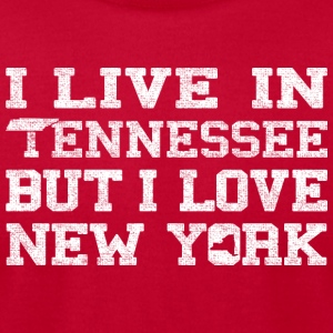 Live Tennessee Love New York Tanks - Men's T-Shirt by American Apparel
