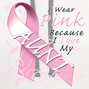 I Wear Pink Because I Love My Aunt T-Shirts - Contrast Hoodie