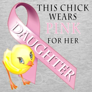 This Chick Wears Pink for her Daughter Sweatshirts - Men's Premium Tank