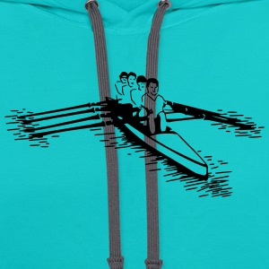 rowing boat (1 color) T-Shirts - Contrast Hoodie