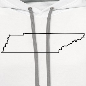 Tennessee,map,landmap,land,country,outline T-Shirts - Contrast Hoodie