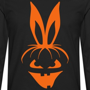 pumpkin bunny rabbit ears halloween hare scary  Women's T-Shirts - Men's Premium Long Sleeve T-Shirt
