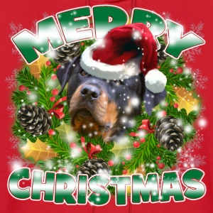 Merry Christmas Rockweiler T-Shirts - Men's Hoodie