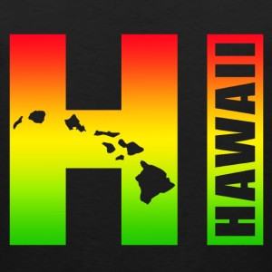 Hawaiian Islands HI - Surfer Rasta Colors - Men's Premium Tank