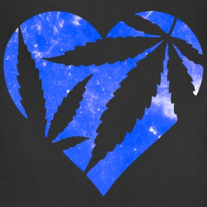 Marijuana Heart Galaxy Hoodies - Adjustable Apron