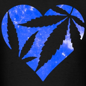 Marijuana Heart Galaxy Hoodies - Men's T-Shirt