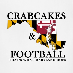 Crabcakes & Football T-Shirts - Adjustable Apron