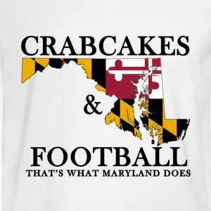 Crabcakes & Football T-Shirts - Men's Long Sleeve T-Shirt
