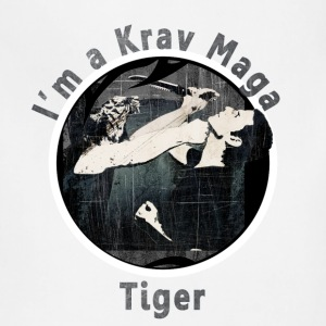 Krav Maga Tiger in Black - Adjustable Apron