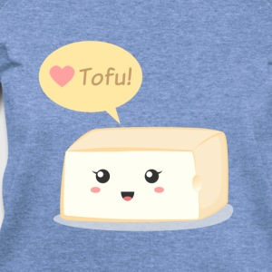 love tofu, cute food doodle Women's T-Shirts - Women's Wideneck Sweatshirt