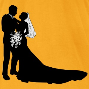 Bride & Groom vector - Men's T-Shirt by American Apparel
