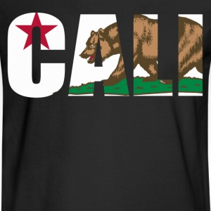 Cali California Bear Flag - Men's Long Sleeve T-Shirt