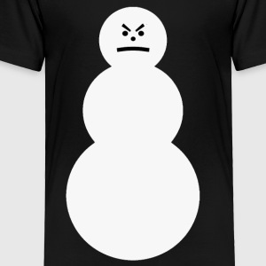 The Grumpy Snowman Kids T-shirt - Toddler Premium T-Shirt