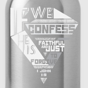 1 John 1:9 Women's T-Shirts - Water Bottle