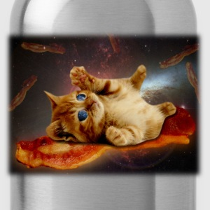 bacon cat in space.png T-Shirts - Water Bottle