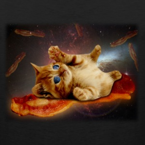 bacon cat in space.png T-Shirts - Men's Premium Tank
