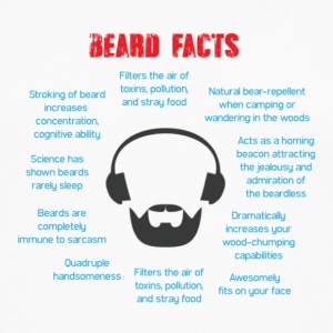 Beard Facts - Men's Premium Long Sleeve T-Shirt