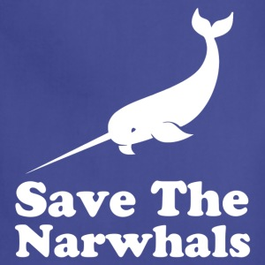 save the narwhals - Adjustable Apron