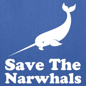 save the narwhals - Tote Bag
