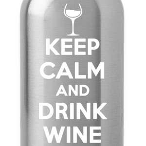 keep calm and drink wine - Water Bottle