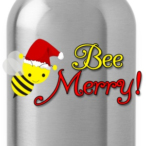 Bee Merry Christmas Holiday Bumblebee Santa Hat Women's T-Shirts - Water Bottle