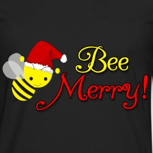 Bee Merry Christmas Holiday Bumblebee Santa Hat Women's T-Shirts - Men's Premium Long Sleeve T-Shirt