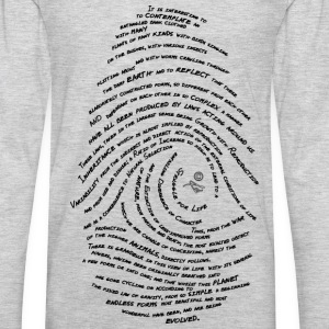 Darwin's Fingerprint by Tai's Tees - Men's Premium Long Sleeve T-Shirt