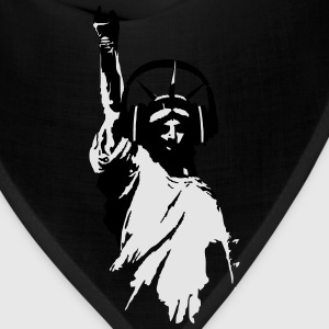 DJ T-Shirts Lady Liberty Headphone (Men/Grey) - Bandana