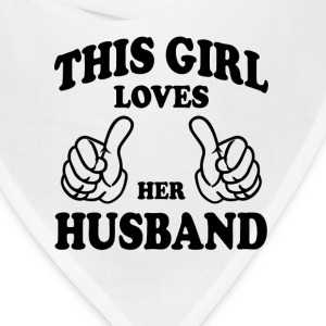 This Gir Loves Her Husband Women's T-Shirts - Bandana