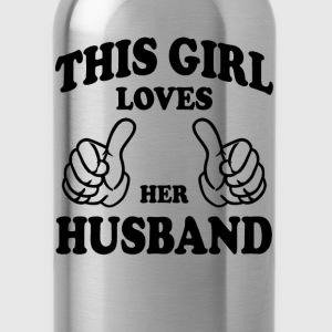 This Gir Loves Her Husband Women's T-Shirts - Water Bottle