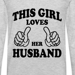 This Gir Loves Her Husband Women's T-Shirts - Men's Premium Long Sleeve T-Shirt