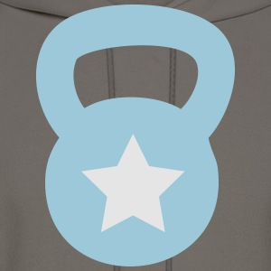 Kettlebell With Star - Men's Hoodie