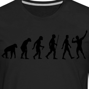 Evolution of Zyzz t-shirt - Men's Premium Long Sleeve T-Shirt
