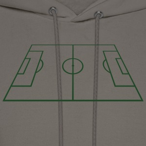 Soccer Playing Court - Pitch - Field T-Shirts - Men's Hoodie
