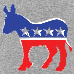 Democrat Donkey - Liberal - Politics Kids' Shirts - Toddler Premium T-Shirt