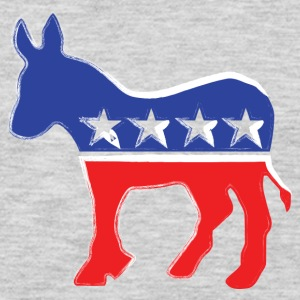 Democrat Donkey - Liberal - Politics Kids' Shirts - Men's Premium Long Sleeve T-Shirt