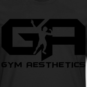Gym Aesthetics T-Shirts - Men's Premium Long Sleeve T-Shirt
