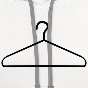 Clothes Hanger Women's T-Shirts - Contrast Hoodie