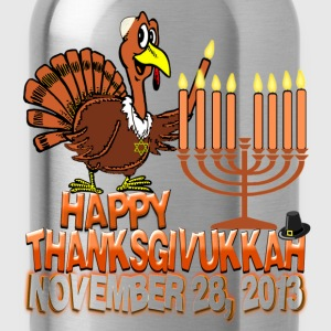 Happy Thanksgivukkah - Thankgiving Hanukkah Kids T - Water Bottle