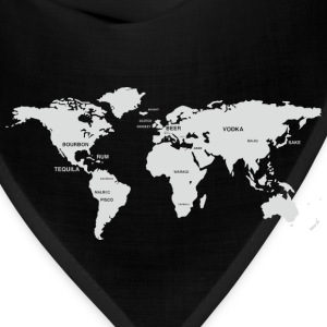 International Alcohol Map T-Shirts - Bandana