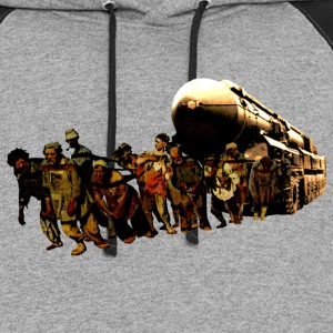 Hauling a Soviet Nuclear Missile Carrier - Colorblock Hoodie