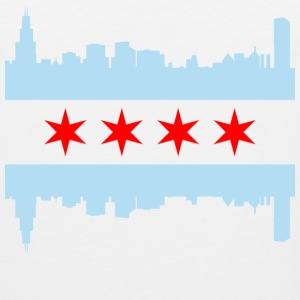 Chicago Flag Skyline - Men's Premium Tank